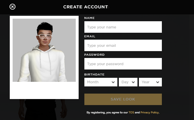 IMVU facilitates its new users with a user-friendly sign-up