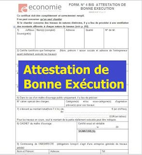 Modele D Attestation De Bonne Execution Execution Lecture De Plan Modele De Planning