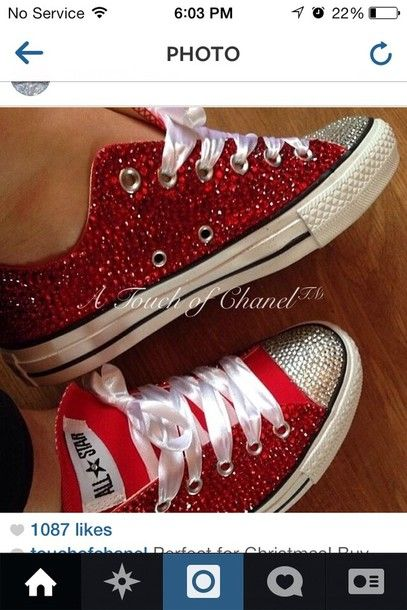 ebe429a726df red bling converse - Google Search