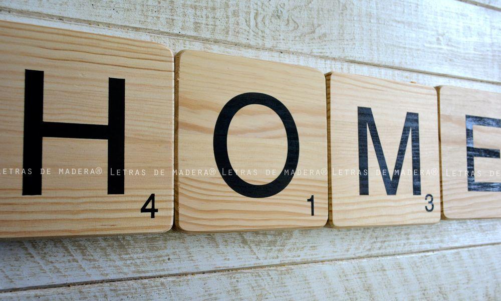 Letras de madera Scrabble Decoración para el hogar Visita nuestra
