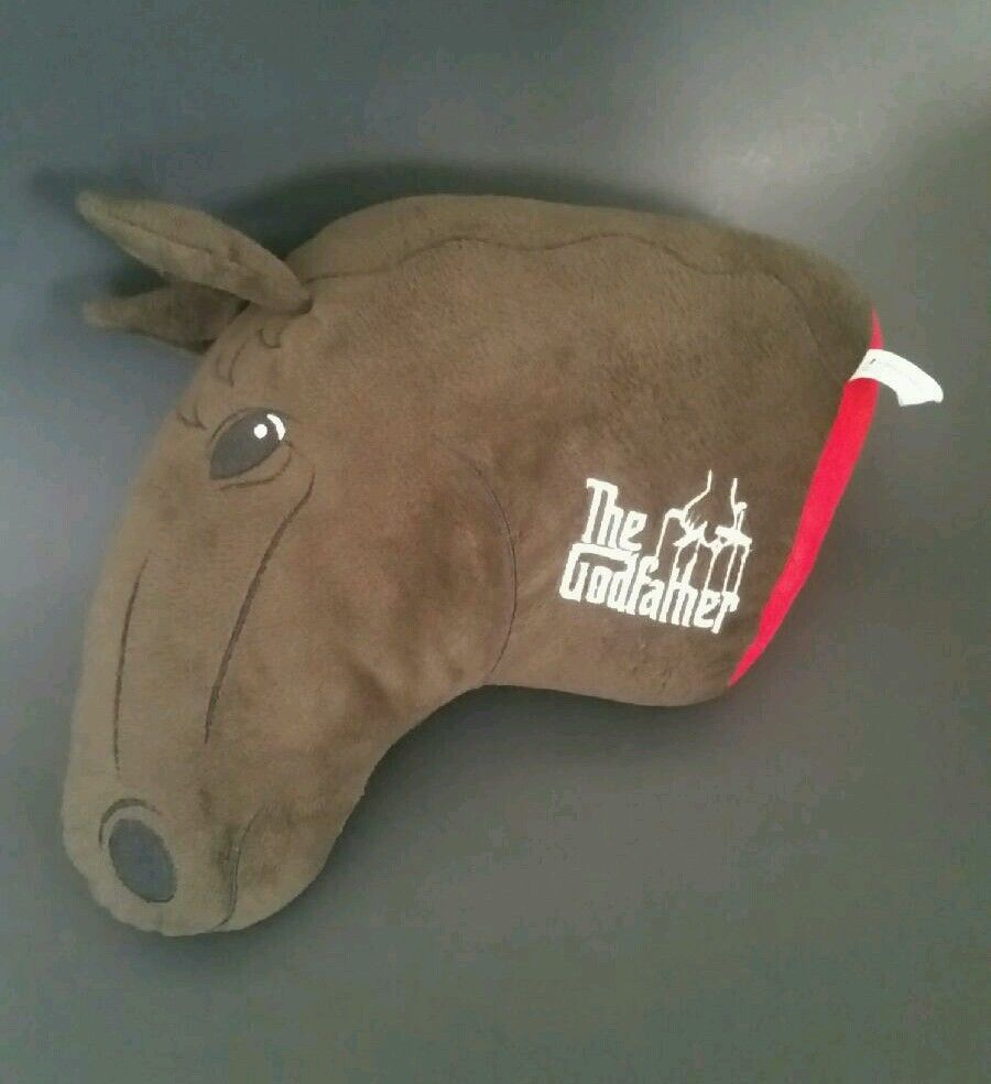 The Godfather Severed Horse Head Stuffed Plush Toy Pillow Movie Collectible