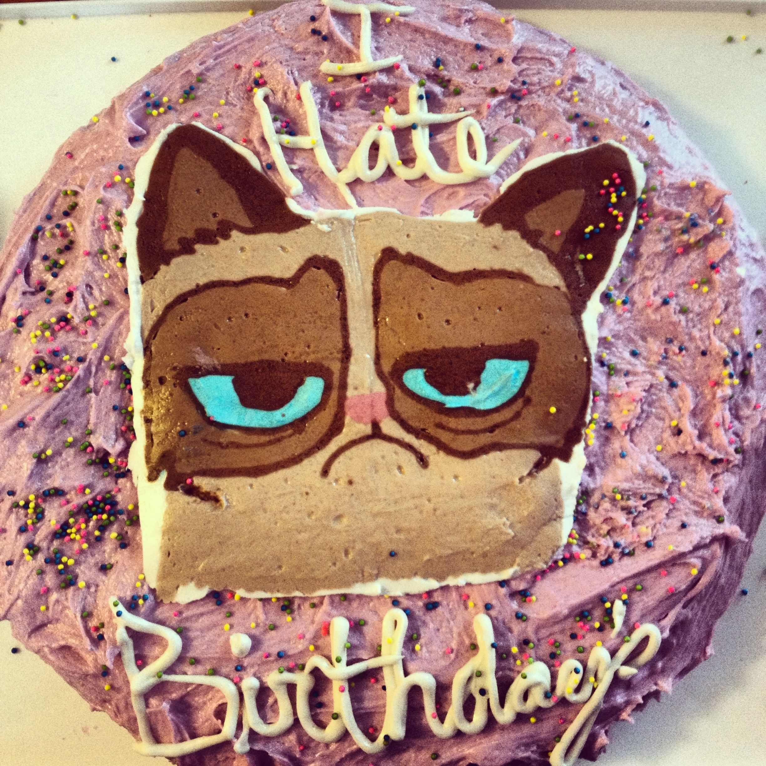 Grumpy Cat Birthday Cake #Grumpycat #Cake For More Grumpy Cat