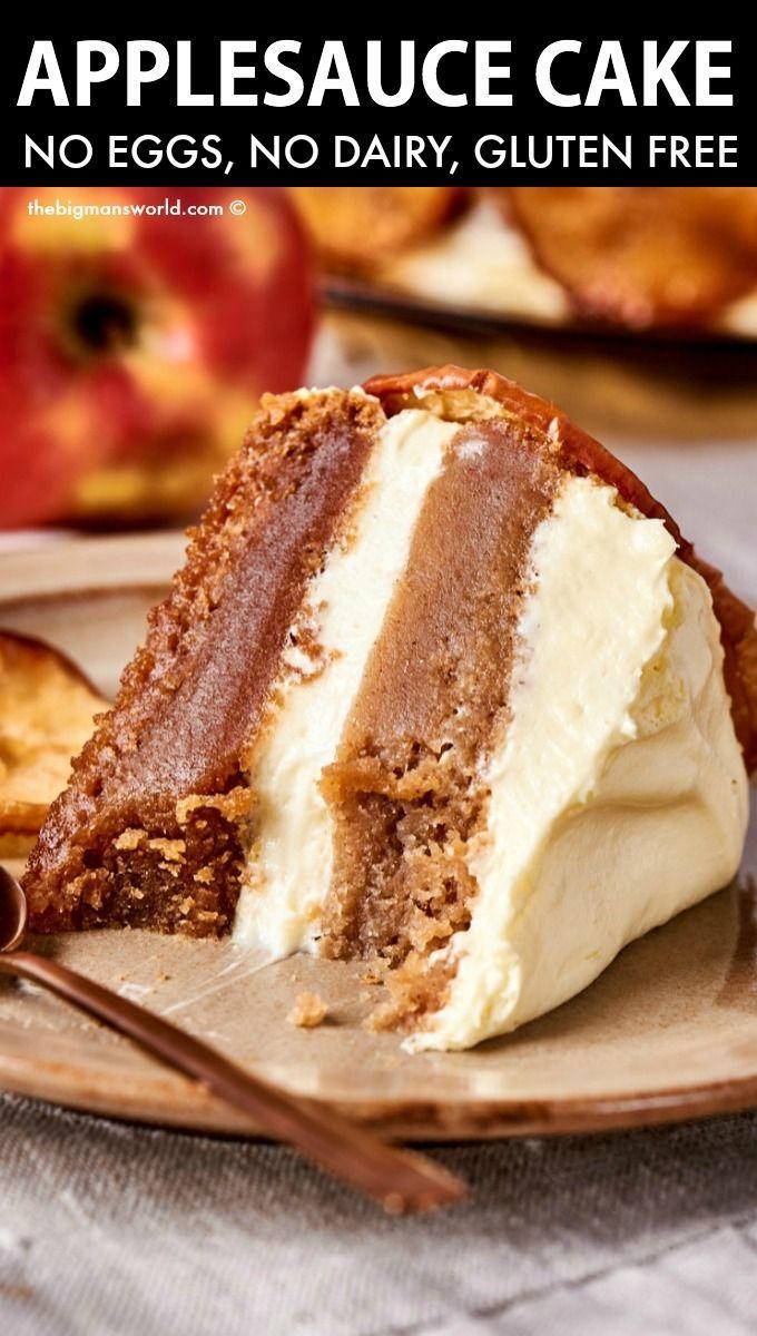 Applesauce Cake (No eggs or dairy!)