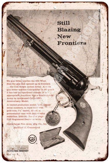 1961 Browning Shotguns Reproduction Metal Sign 8 x 12
