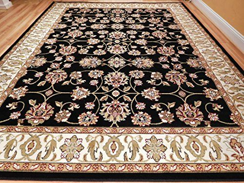 New Traditional Area Rugs 2x3 Black Foyer Rugs 2x4 Persian Allover
