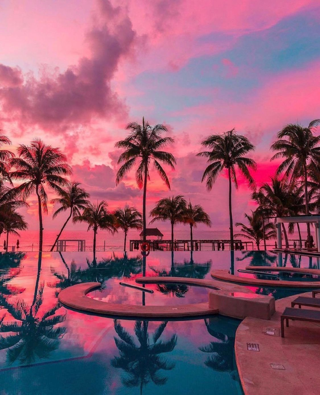 Playa Del Carmen Mexico Sunset Vacations Beautiful Wallpapers Sunset Wallpaper