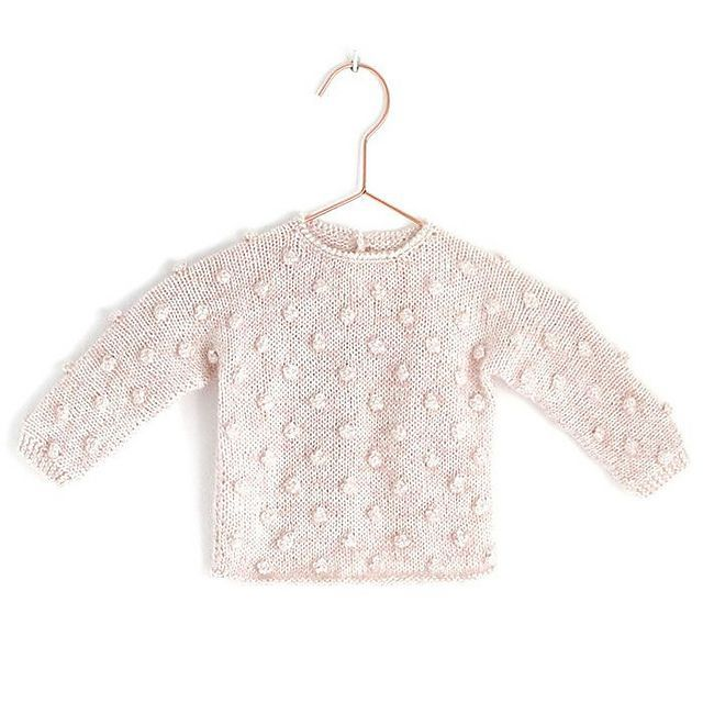 PopCorn Sweater pattern by Marta Porcel #bebeklerveebeveynlik Ravelry: free 1-3 months PopCorn Sweater pattern by Marta Porcel #bebeklerveebeveynlik