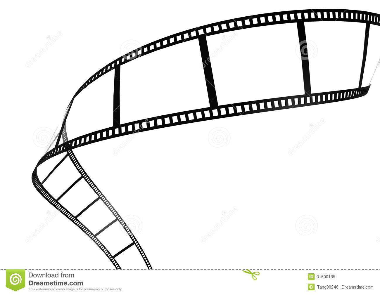 Film strip template border movie theater frame stock for Printable film strip template