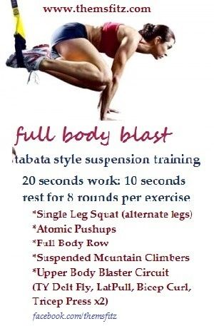 trx tabata full body blast with images  trx workouts