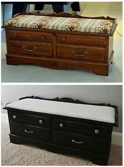 Beautiful Bench Seat Cedar Chest Furniture Renovation Redo Furniture