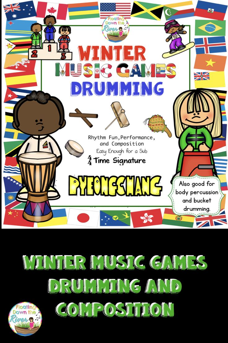 winter music games 14 rhythm drumming composition bundle. Black Bedroom Furniture Sets. Home Design Ideas