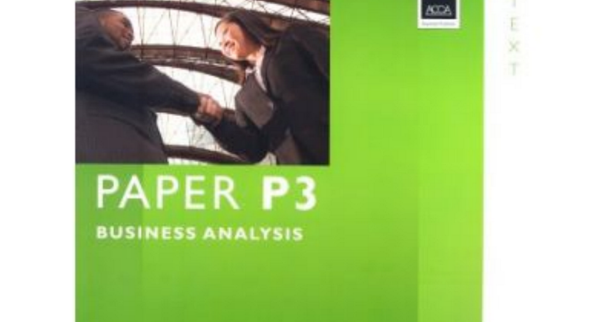ACCA P3 STUDY TEXT EBOOK FREE DOWNLOAD SCRIBD Acca p3 business
