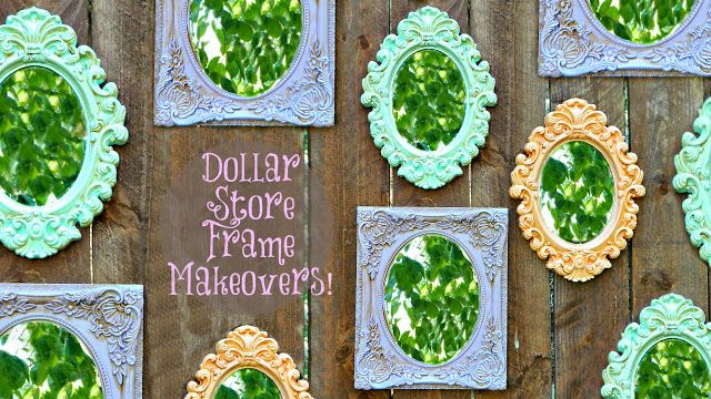 Dollar Store Frame Makeovers Dollar Store Mirror Diy