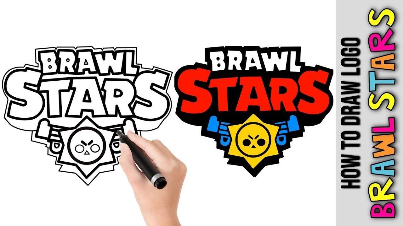 How To Draw Brawl Stars Logo Brawler Cute Easy Drawings