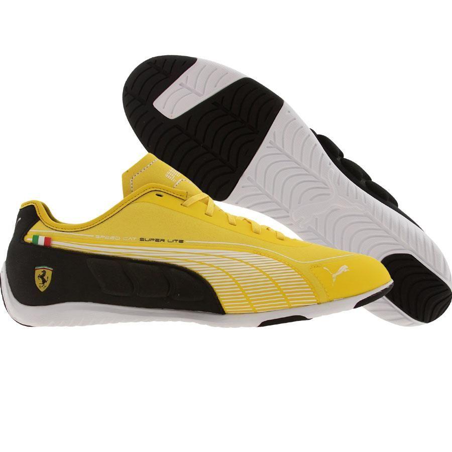 lo mismo colorante Movilizar  Puma Racing Speed Cat SuperLT Low SF - Ferrari shoes in dandelion, white,  and black | Puma lifestyle, Black shoes, Shoes