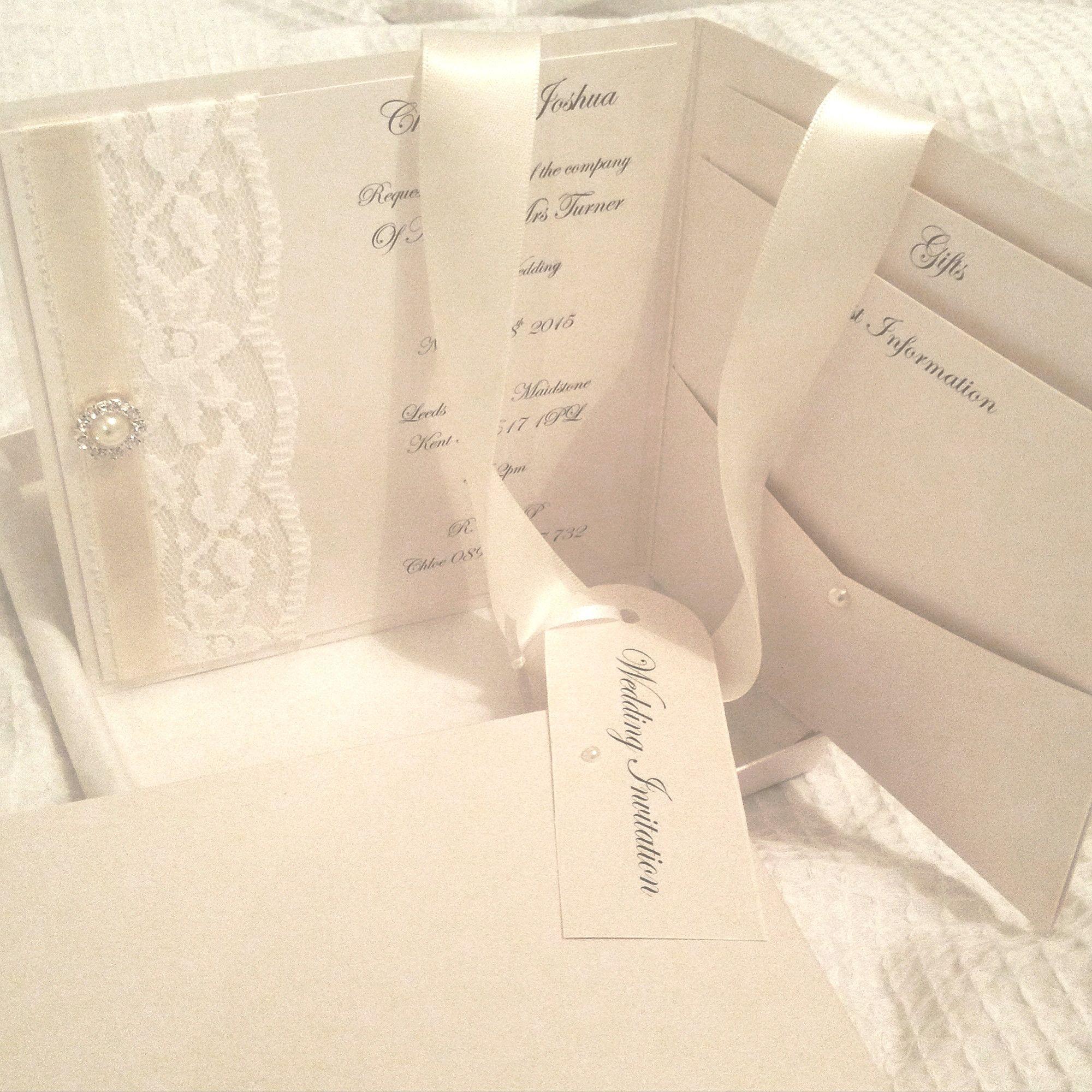 inside view of our pocketfold Chloe invitation. | Wedding ...