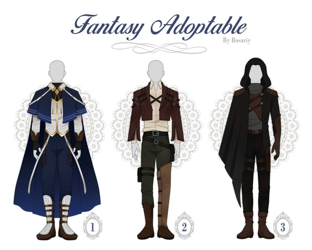 OPEN 13) ADOPTABLE Fantasy Outfit #35 by Rosariy on
