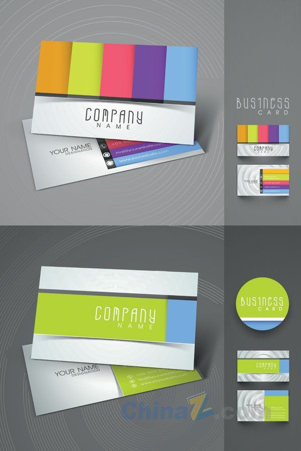 Colorful business card vector template design freegraphics fonts colorful business card vector template design reheart Choice Image