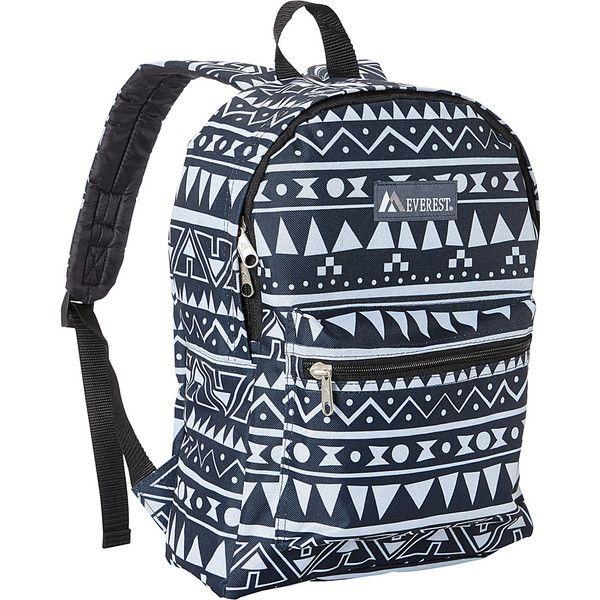 824b20f81abd Everest Basic Pattern Backpack - Navy/White Ethnic - School ...