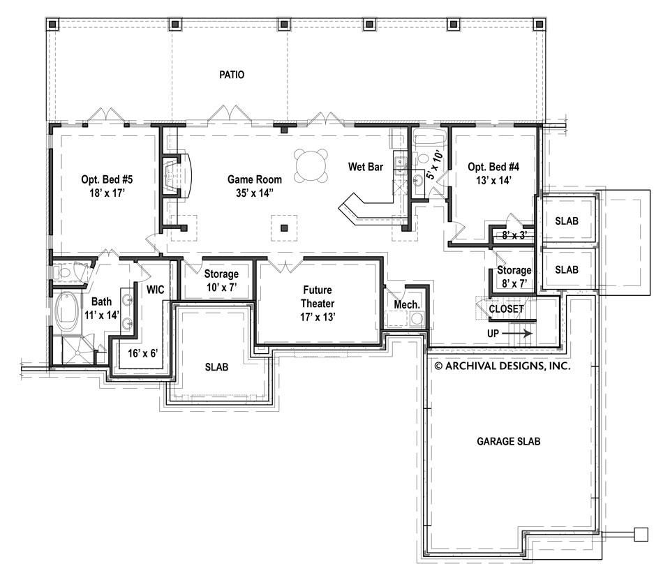 Laurel Ranch Floor Plans Empty Nester House Plans Archival Designs Basement Floor Plans House Plans Floor Plans Ranch