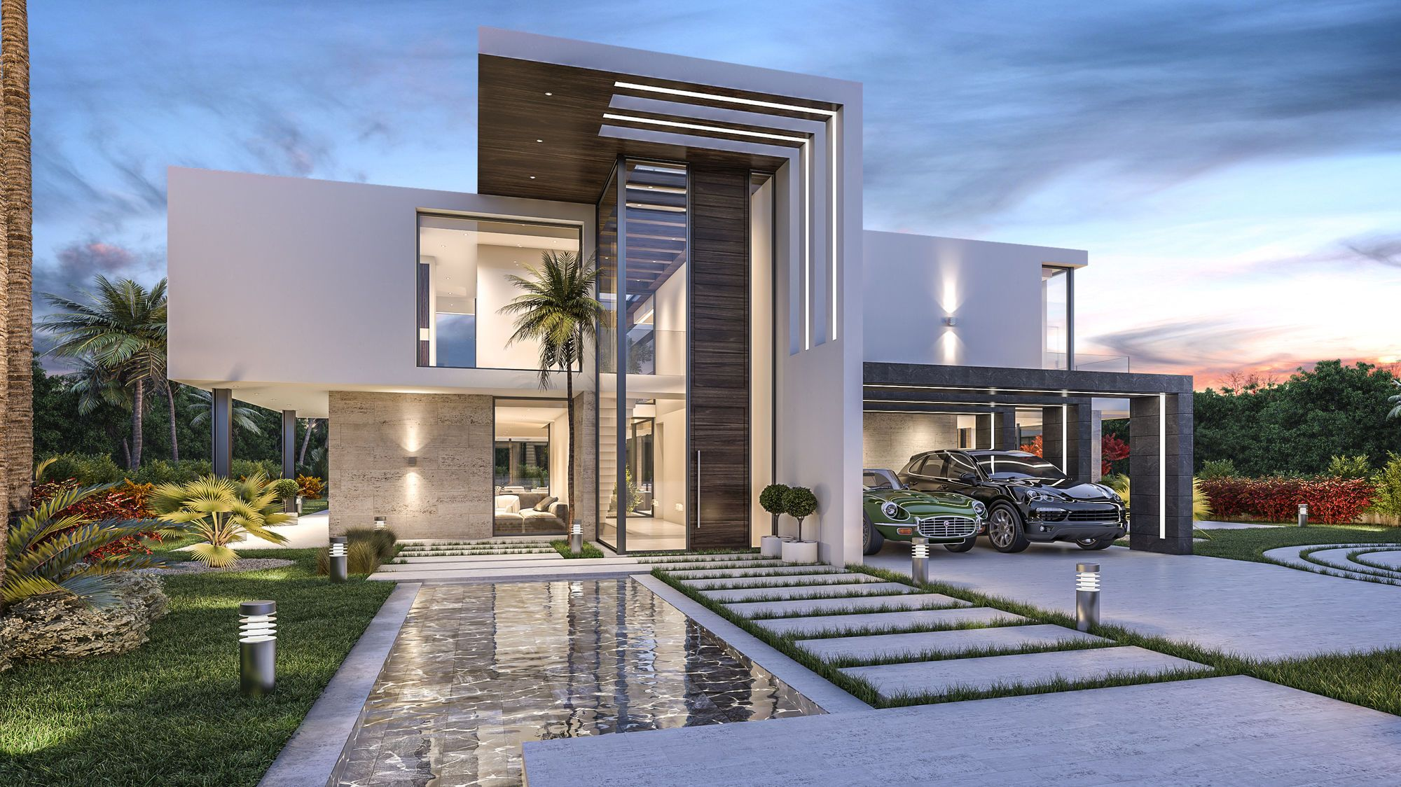 New modern luxury villa project in marbella spain for Luxury home plans magazine
