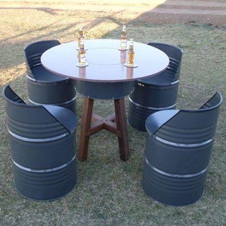 Recycle Oil Barrels Into Outdoor Furniture Oil Barrel Barrel