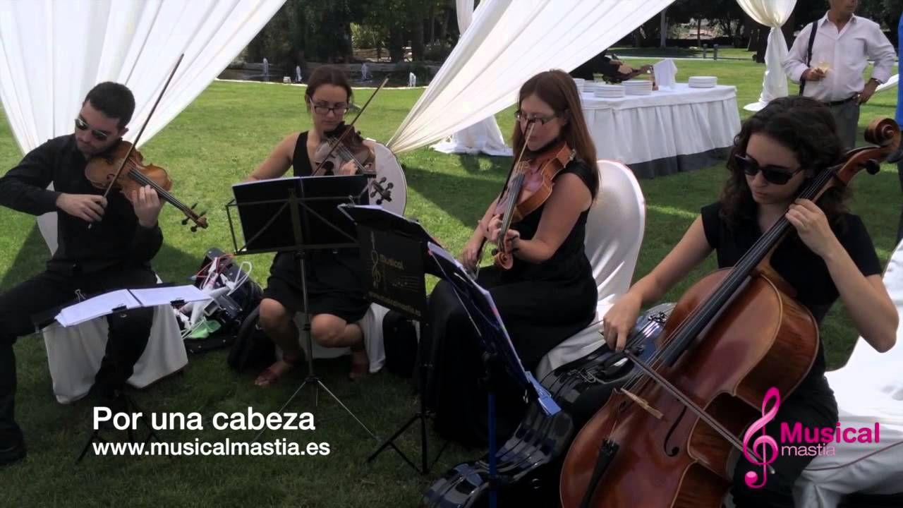 CASON DE LA VEGA SANTOMERA cuarteto Tango Por una cabeza Gardel