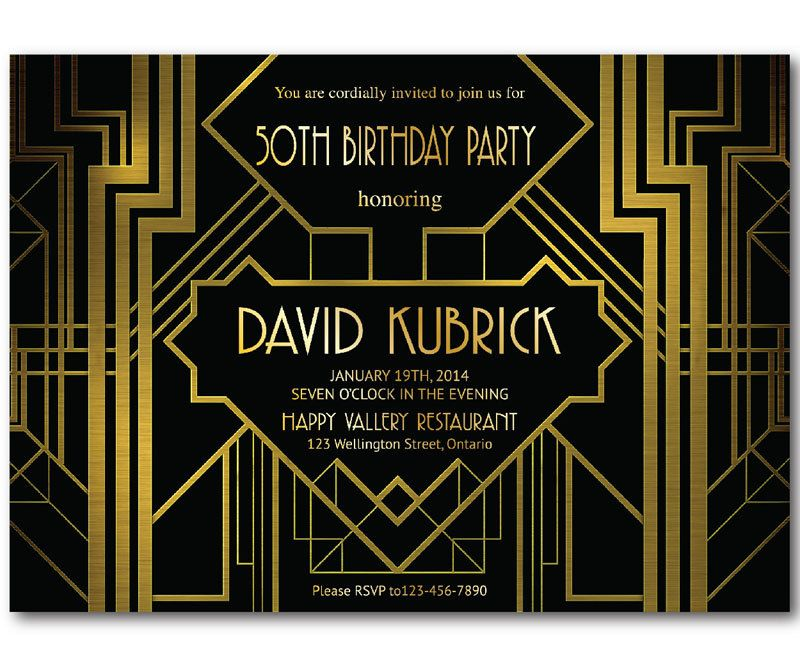 Great Gatsby Birthday Invitation. 30th 40th 50th 60th by arthomer ...