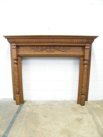 Columbus Architectural Salvage - Antique Oak Fireplace ...