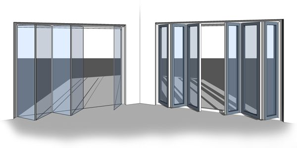 All-in-One Revit Bi-Fold/Sliding Door Family - Bi-Fold Door