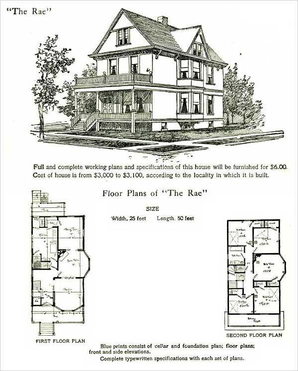 1905 Late Folk Victorian House Plans Hodgson Rae Model Victorian House Plans Folk Victorian Victorian Homes