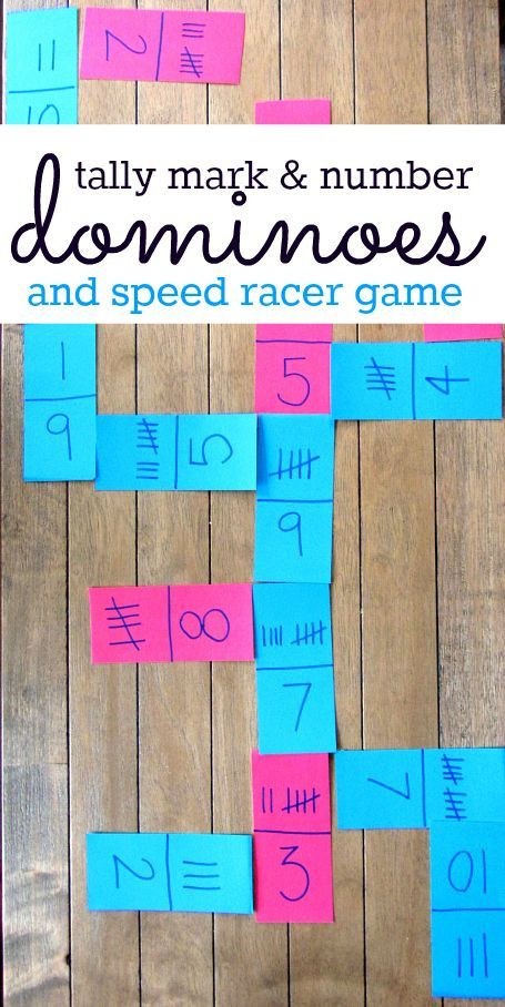 Tally Mark Dominoes & Speed Racer Math Games | Tally marks, Math and ...