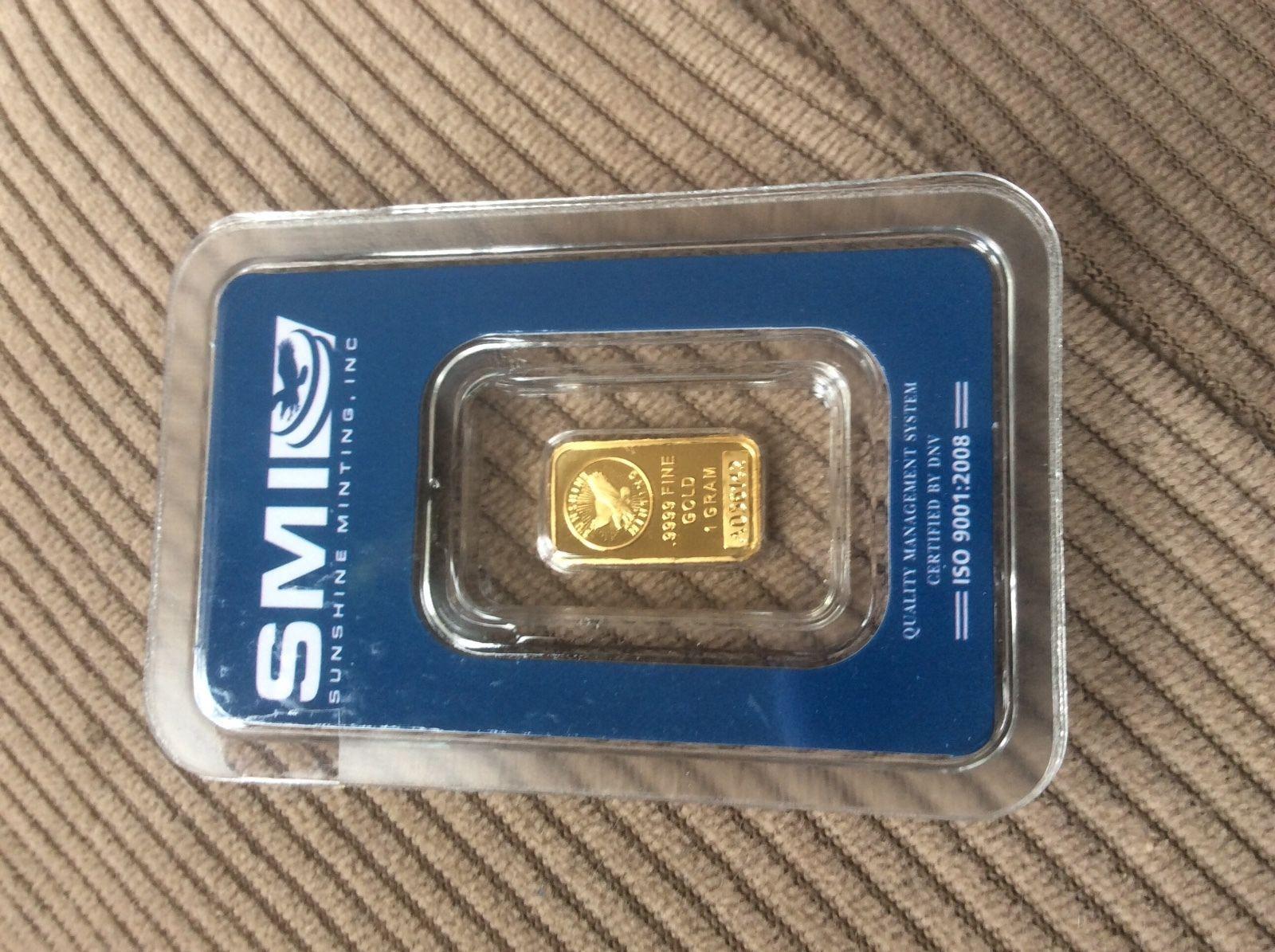 New Post Lowest Price 1 Gram 24k Solid Gold Bar Sealed Sunshine Minting