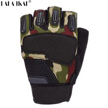 Men Gloves Tactical Equipment Half Finger Gloves Men Outdoor Sports Gloves Men Climbing Camping Hiking Wear Non-Slip YIL0062-2