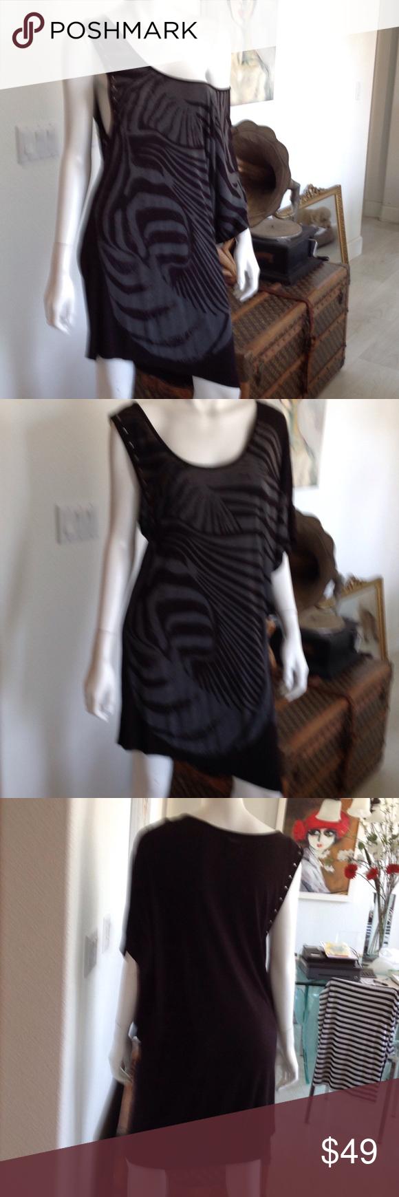 Replay dresstunic replay black cotton short dress tunic size small