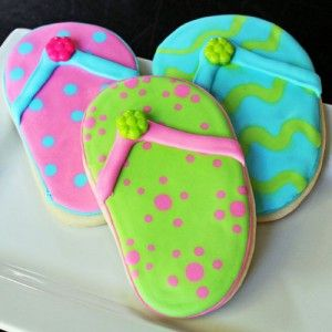9eb32fe7e7fa0 They Flipped for Flip Flop Cookies!
