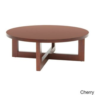 Regency 37-inch Chloe Round Veneer Coffee Table | Overstock™ Shopping - The Best Prices on Regency Seating Reception Tables
