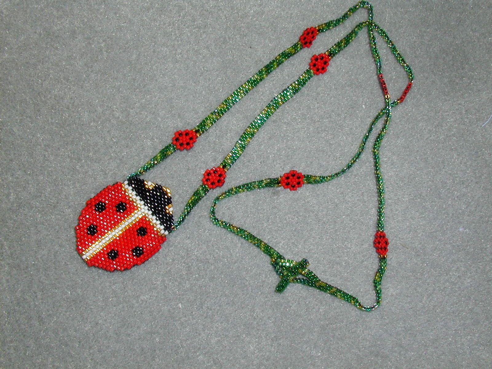 peyote amulet bags | Ladybug Amulet Bag | Jewelry to make or buy ...