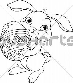 #Easter bunny. #Coloring page