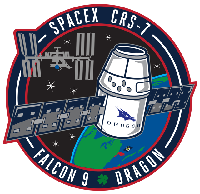 Official Spacex Crs 7 Mission Patch From Spacex Crs 7 Launch Mision Espacial Libros Recomendados Anecdotas