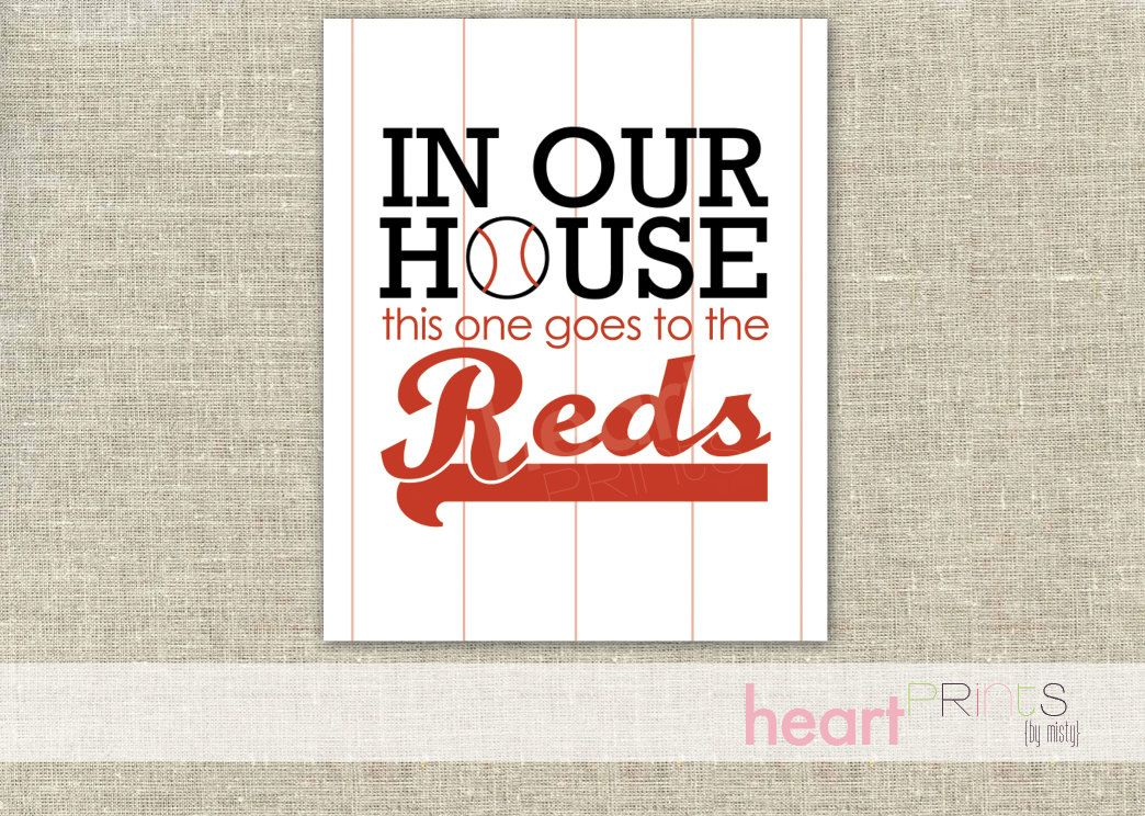 Lets go red legs!!! cincinnati reds sports team wall art \ - baseball stats spreadsheet