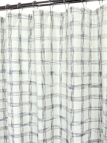 Park B Smith Ultra Spa 100 Cotton Fabric Shower Curtain Retro