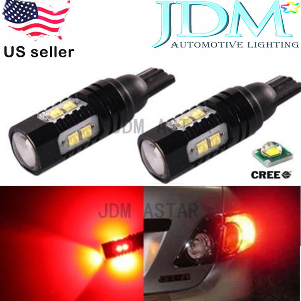 Jdm Astar 50w Cree 921 912 906 Pure Red T15 Led Car Stop Brake Tail Light Bulb Automotive Led Lights Led Replacement Bulbs Cree Led