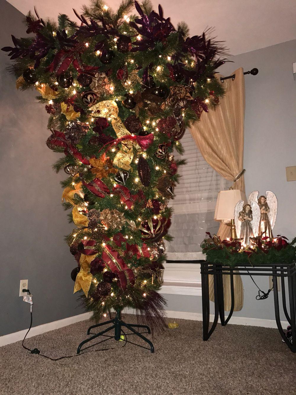 upside down christmas tree umbrella tree - Umbrella Christmas Tree