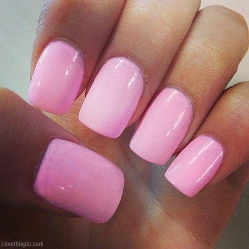 Pink Shiny Nails Fashion Girly Cute Photography Nails Girl Pink