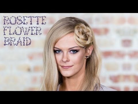 Simple Rosette Flower Braid Hairstyle Tutorial For Medium To Long Hair Braided Hairstyles Tutorials Easy Long Hair Styles Hair Tutorial
