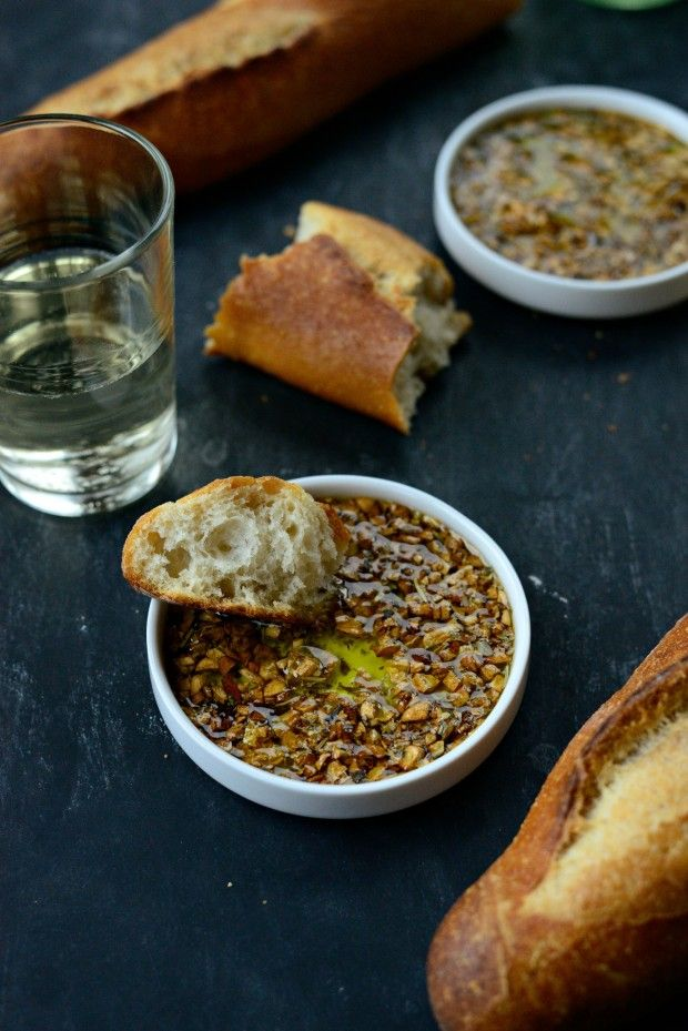 Toasted Garlic Olive Oil Bread Dip #oliveoils