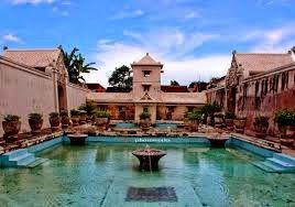 istana air taman sari Jogjakarta  The palace swimming pool