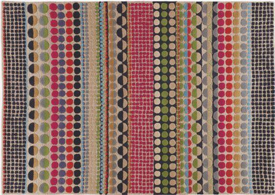 Multi Coloured Large Geometric Wool Rug