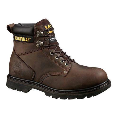 0327b9e512a Men's Caterpillar Second Shift Steel Toe Work Boot - Dark Brown Big ...